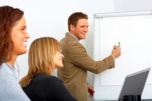 external training company delivering a course
