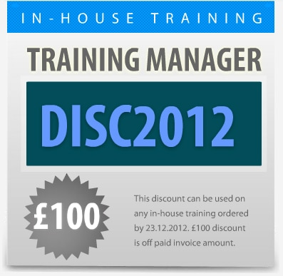 discount on inhouse training courses
