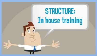 how to structure your inhouse training program